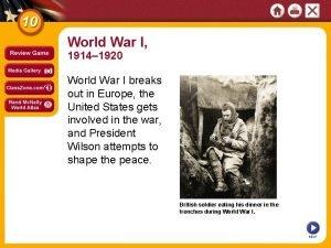 World War I 1914 1920 World War I