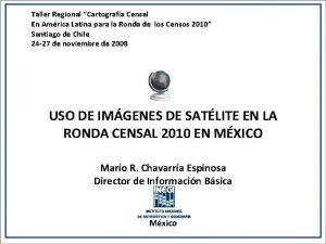 Taller Regional Cartografa Censal En Amrica Latina para