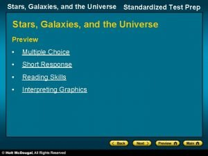 Stars Galaxies and the Universe Standardized Test Prep