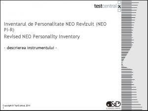 Inventarul de Personalitate NEO Revizuit NEO PIR Revised