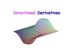 Directional Derivatives ExampleWhats the slope of at 0