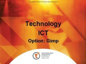 Technology ICT Option Gimp Digital Imaging Gimp A