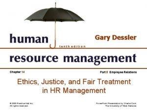 Gary Dessler tenth edition Chapter 14 Part 5