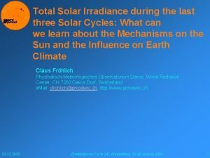 Total Solar Irradiance during the last three Solar