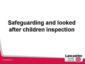 Safeguarding and looked after children inspection Inspection Discussions