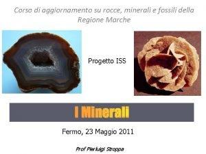 Corso di aggiornamento su rocce minerali e fossili