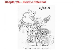 Chapter 25 Electric Potential ELECTRIC POTENTIAL January 28
