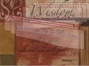 1 The Wisdom in Putting Limits Wisdom of