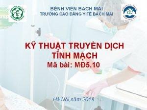 BNH VIN BCH MAI TRNG CAO NG Y