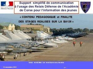 Support simplifi de communication lusage des Relais Dfense