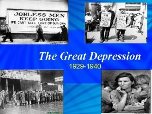 The Great Depression 1929 1940 Election of 1928
