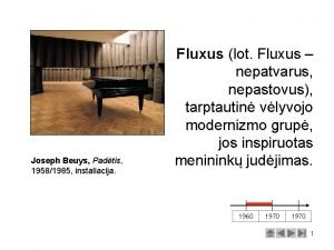 Joseph Beuys Padtis 19581985 instaliacija Fluxus lot Fluxus