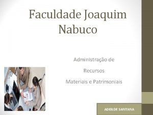 Faculdade Joaquim Nabuco Administrao de Recursos Materiais e
