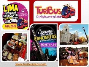 www turibusperu com Quines somos Somos una marca