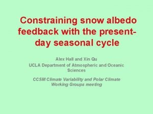 Constraining snow albedo feedback with the presentday seasonal