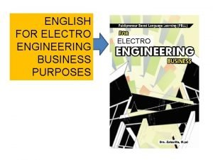ENGLISH FOR ELECTRO ENGINEERING BUSINESS PURPOSES ELECTRO SHIFTING