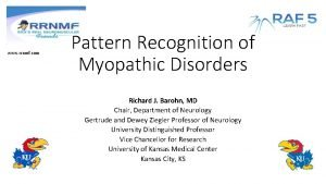 www rrnmf com Pattern Recognition of Myopathic Disorders