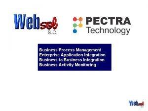 Business Process Management Enterprise Application Integration Business to