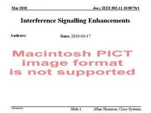 doc IEEE 802 11 100079 r 1 Mar