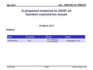 doc IEEE 802 19 170031 r 0 Mar