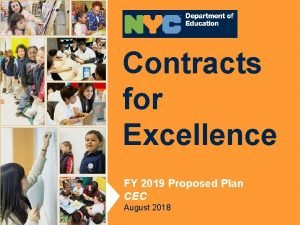 Contracts for Contracts Excellence for Excellence FY 2017