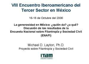 VIII Encuentro Iberoamericano del Tercer Sector en Mxico