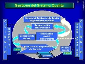 Diagnostics Gestione del Sistema Qualit Sistema di Gestione