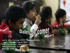 Lectio divina Domingo XVIII Tiempo ordinario Ciclo A
