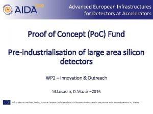 Advanced European Infrastructures for Detectors at Accelerators Proof