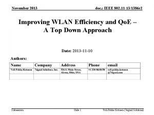 November 2013 doc IEEE 802 11 131386 r