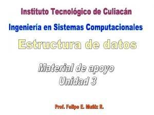 Unidad 3 Estructuras lineales esttica y dinmicas 3