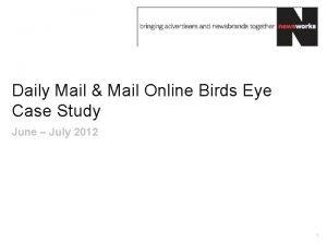 Daily Mail Mail Online Birds Eye Case Study
