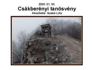2020 01 03 Cskbernyi tansvny Ksztette Szab Lilla