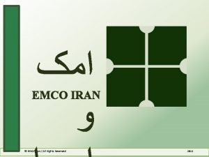 EMCO IRAN EMCO Iran All Rights Reserved 2015
