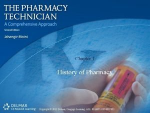Chapter 1 History of Pharmacy Copyright 2011 Delmar