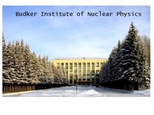 Budker Institute of Nuclear Physics Some History Institute