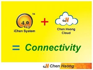 Chen Hsong Cloud Connectivity Chen Hsong Industrie 4