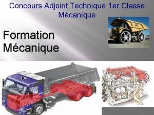 Concours Adjoint Technique 1 er Classe Mcanique Formation