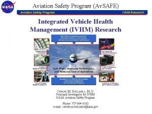 Aviation Safety Program Av SAFE Aviation Safety Program