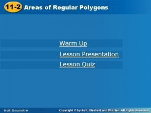 11 2 Areas of Regular Polygons Warm Up
