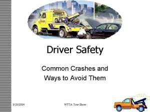 Driver Safety Common Crashes and Ways to Avoid