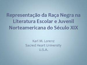 Representao da Raa Negra na Literatura Escolar e