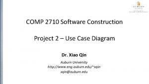 COMP 2710 Software Construction Project 2 Use Case