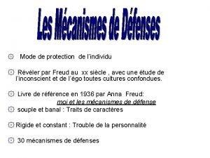 Mode de protection de lindividu Rvler par Freud