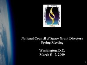 National Council of Space Grant Directors Spring Meeting