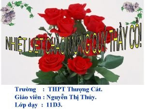 Trng THPT Thng Ct Gio vin Nguyn Th