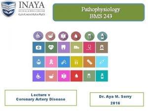 Pathophysiology BMS 243 Lecture v Coronary Artery Disease