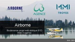 Airborne Soutenance projet web statique S 1 D