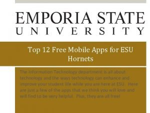 Top 12 Free Mobile Apps for ESU Hornets