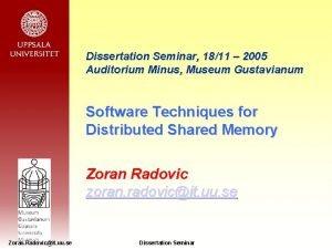 Dissertation Seminar 1811 2005 Auditorium Minus Museum Gustavianum